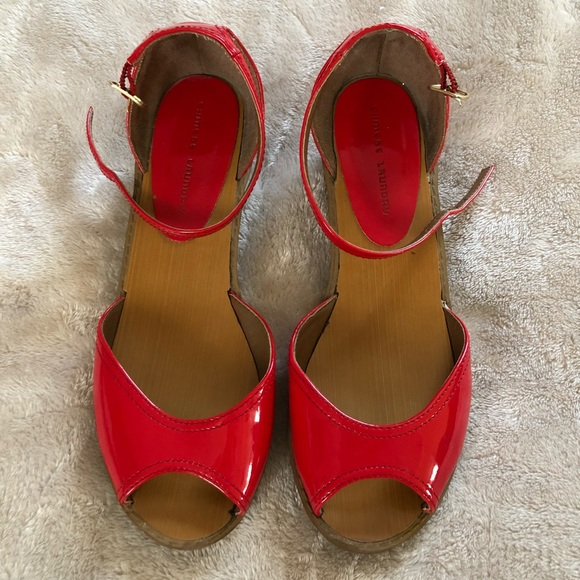 612fc9698 Chinese Laundry Shoes - Chinese laundry red flat sandals